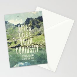 Never Lose Curiosity Stationery Cards