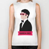 darren criss Biker Tanks featuring Darren Criss with pink shades! by byebyesally