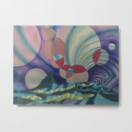 Floating circles Metal Print