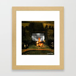WATCH YOU BURN HANDCUT COLLAGE Framed Art Print