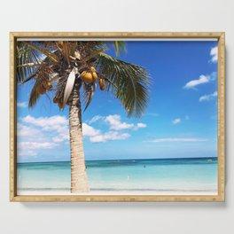 Pardise beach palm Serving Tray