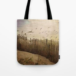Over the Dunes Painterly Tote Bag