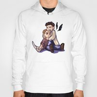 destiel Hoodies featuring He didn't take it well... by rnlaing