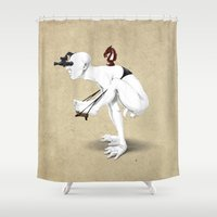 knight Shower Curtains featuring Knight by rob art | illustration