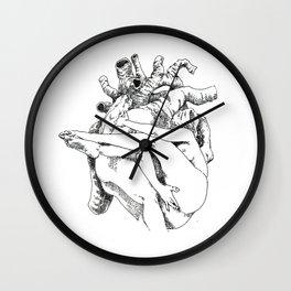 NUDEGRAFIA - 34 Heart Wall Clock