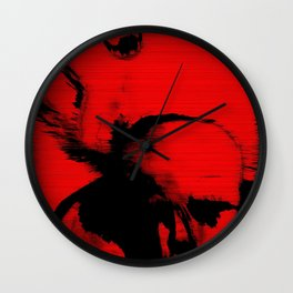 Parasite Oddity (Red Mix) Wall Clock