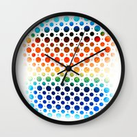 planets Wall Clocks featuring planets by sustici