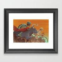 Bullride Framed Art Print