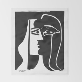 Pablo Picasso Kiss 1979 Artwork Reproduction For T Shirt, Framed Prints Throw Blanket
