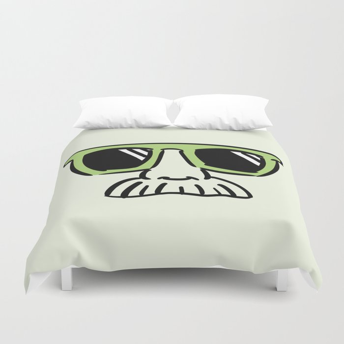 Too Cool (pea green) Duvet Cover