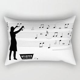making more music Rectangular Pillow