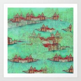 Venetian Green Art Print