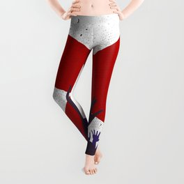 Alabama State Flag with Audience Leggings
