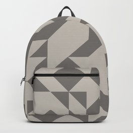 Taupe Modern Art Backpack