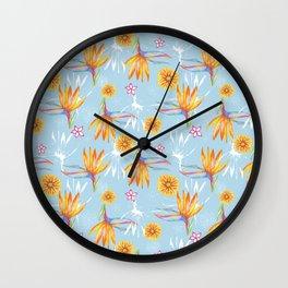 Sketchbook Paradise Wall Clock