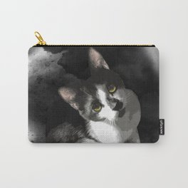 Gypsy Da Fleuky Cat and the Black Starry Night Carry-All Pouch