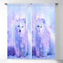 Arctic iceland fox Blackout Curtain
