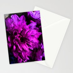 Lavender and Pink Flower Stationery Cards