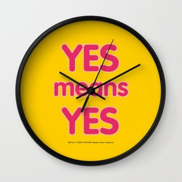 Yes means Yes - SB967 - color Wall Clock