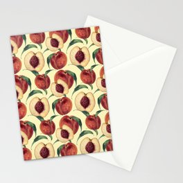 Watercolor sweet peaches Stationery Cards