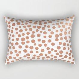 Copper Dots Rectangular Pillow