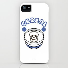 """Cereal killer"" tee design. Perfect gift this seasons of giving for your family and friends! iPhone Case"