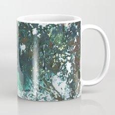 Green abstract liquidity. Mug