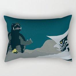 Gamera vs. Zigra Rectangular Pillow