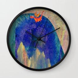 Tiny Dragon Illusion Landscape Wall Clock