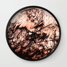 Copper Lava Wall Clock