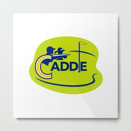 Caddie and Golfer Golf Course Icon Metal Print