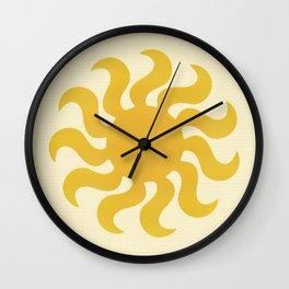 Knitted sun Wall Clock