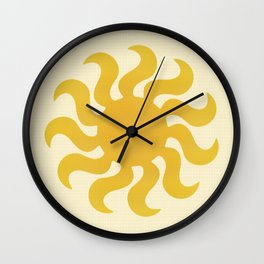 Knitted sun Wall Clock