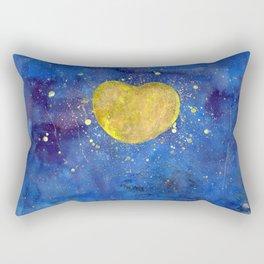 Heart shape Full Moon in the Universe Rectangular Pillow