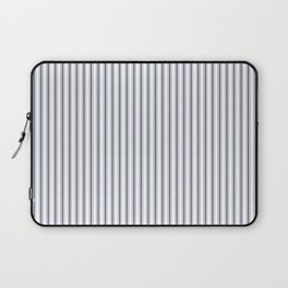 Dark Sargasso Blue Mattress Ticking Narrow Striped Pattern - Fall Fashion 2018 Laptop Sleeve