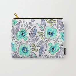 Floral watercolor pattern . Carry-All Pouch