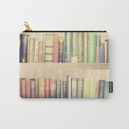 Dream with Books - Love of Reading Bookshelf Collage Carry-All Pouch