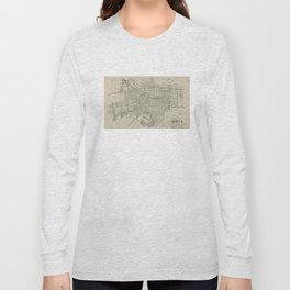 Vintage Map of Augusta GA (1913) Long Sleeve T-shirt