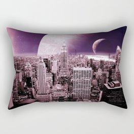 New New York : Galaxy City Dark Mauve Rectangular Pillow
