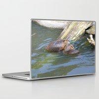 beaver Laptop & iPad Skins featuring beaver love by Mathilde Nieuwenhuis