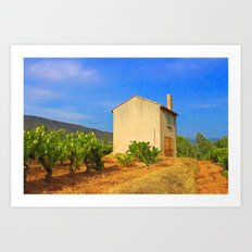 The Little House In The Vineyard Art Print
