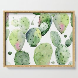 Cactus commotion Serving Tray