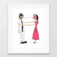 gorillaz Framed Art Prints featuring Lick Me by Maison Mendoza
