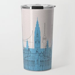 Vienna Landmarks Poster Travel Mug
