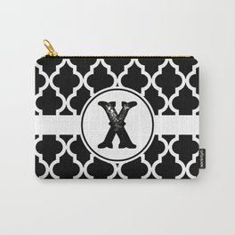 Black Monogram: Letter X Carry-All Pouch
