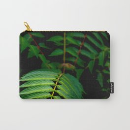 Illuminated Fern Leaf In A Dark Forest Background Carry-All Pouch