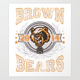 Brown Bears Art Print