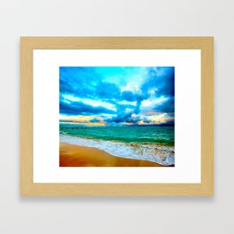 BYU Pounders Beach ... By LadyShalene Framed Art Print