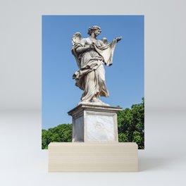 Angel with the Sudarium at the Sant'Angelo bridge - Rome, Italy Mini Art Print