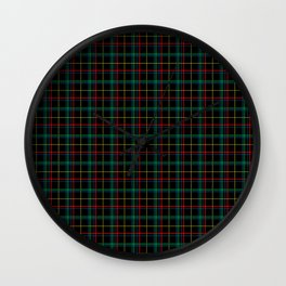 Red and green plaid Wall Clock